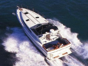 40' Power Boat view from above
